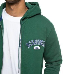 🔥DC Glenridge Zip-Up Hoodie Green NWT